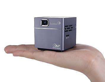 Ivation inalámbrico portátil portátil de cubo de pico proyector de ...