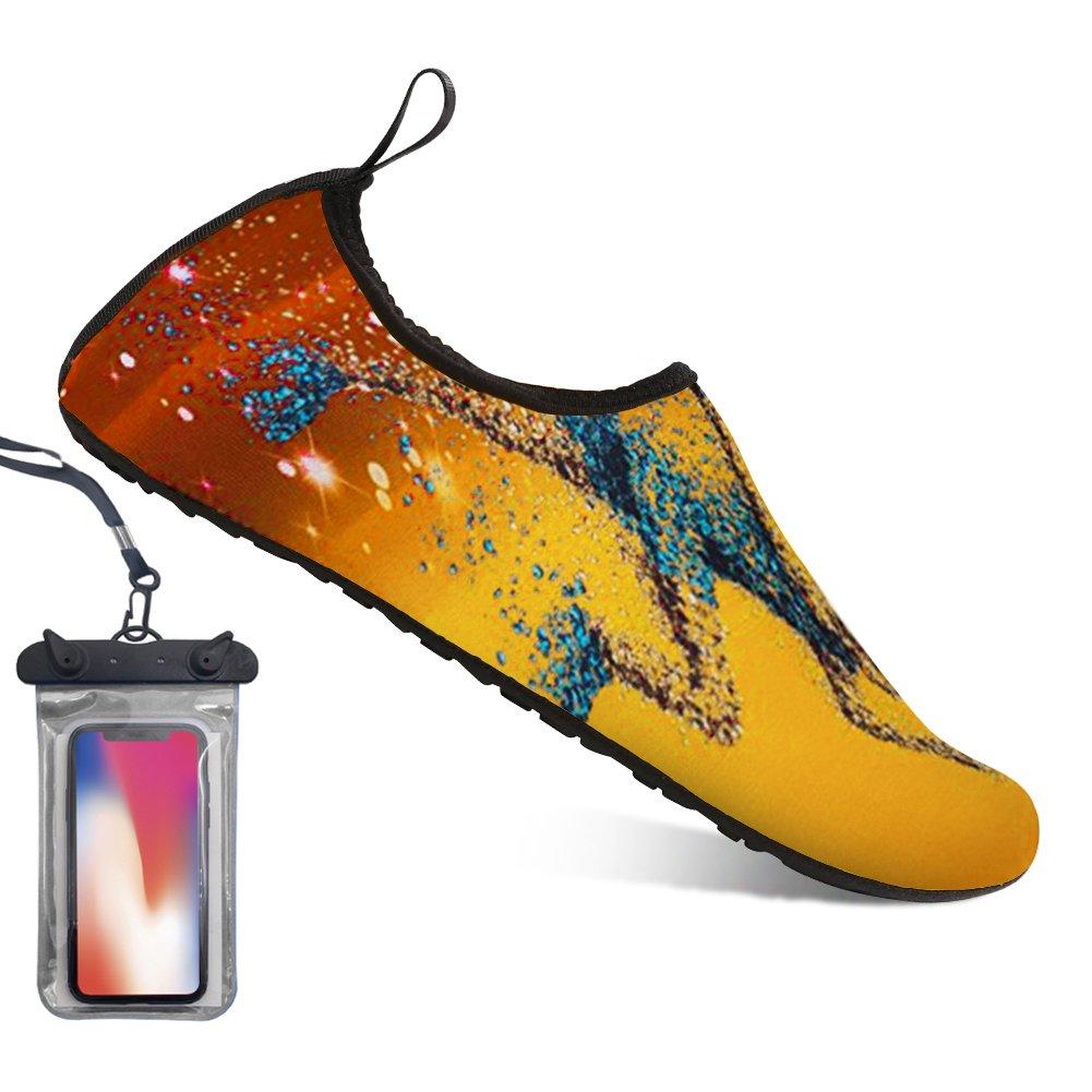 Bopika Barefoot Shoes Water Sports Shoes Quick-Dry Aqua Yoga Socks for Women Men Kids (M: (Women:7.5-8.5/Men:6-7), BP)
