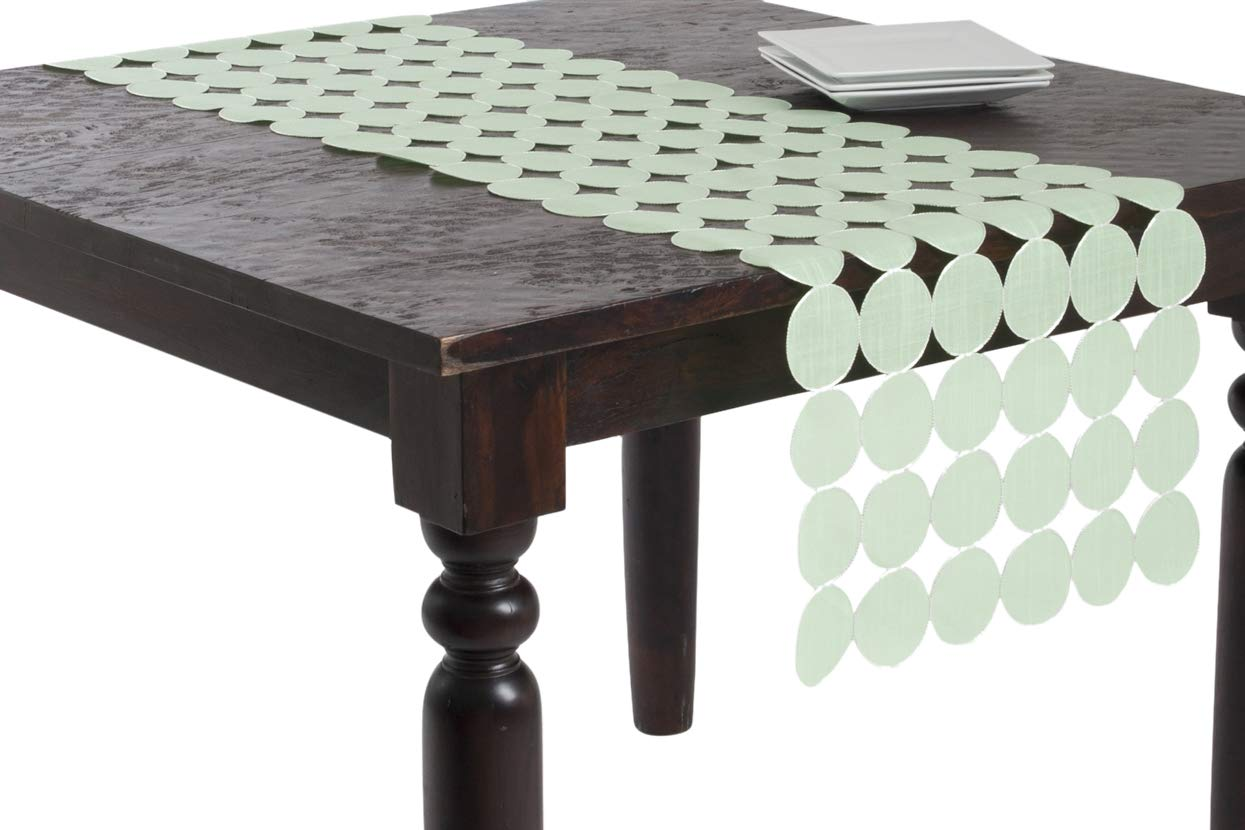 Pistachio 16 by 70-Inch SARO LIFESTYLE 70710.PS1670B 1-Piece Oblong Runner