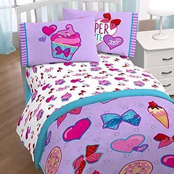 Amazon Com Nickelodeon Jojo Siwa Sweet Life Pink White 3 Piece Twin