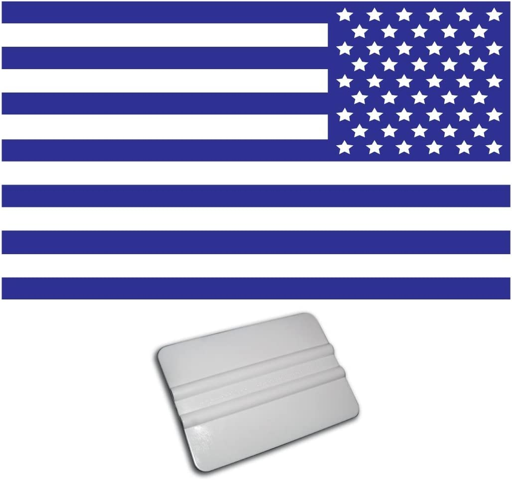 amazon com bamfdecals x large 22 inch wide single color subdued american usa flag decal reversed blue automotive amazon com