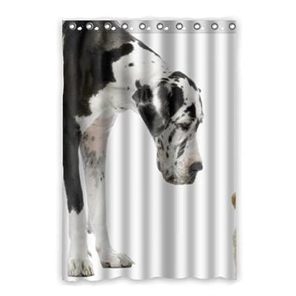 "Gran danés negro blanco perros cortina de ventana casa ventana habitación 100 ""X84"""