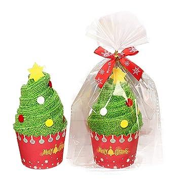 Hilai Decorativa Juego de Toallas de Mano Navidad decoración Navidad Toalla plastilina, algodón Toalla: Amazon.es: Hogar