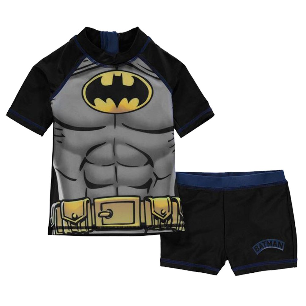 5-6 Yrs, Batman 2 Piece Infant Boys Print Swim Set Swimwear Top Shorts