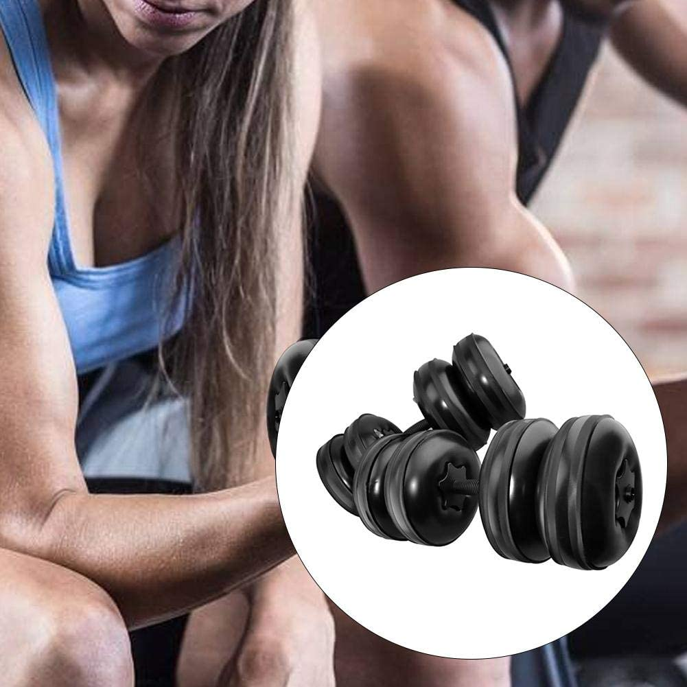 Designed for Personal Exercise ABS Material Portable 16-20KG Weight Adjustable Water-Filled Training Dumbbell Arm Muscle Training