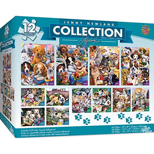 (MasterPieces Jenny Newland Collection - Puppies & Kittens 12 Pack Jigsaw Puzzles)
