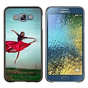 """Be-Star Único Patrón Plástico Duro Fundas Cover Cubre Hard Case Cover Para Samsung Galaxy E7 / SM-E700 ( Baile Rojo Falda Chica Ejercicio naturaleza Cielo"""" )"""