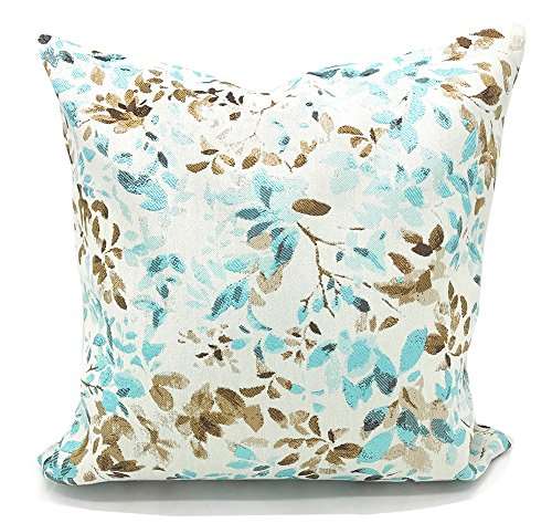 Fennco Styles Home Decoration Lovely Floral Woven Cotton Throw Pillow (18