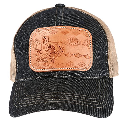 McIntire Saddlery Womens Ladies Tooled Leather Texas Cap OS Multi at Amazon  Women s Clothing store  c1a89c6b4241