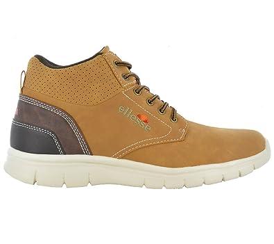 ellesse Italia Cosmo Sneaker Brun Chaussures Homme Baskets Top ... 730ef444b8df