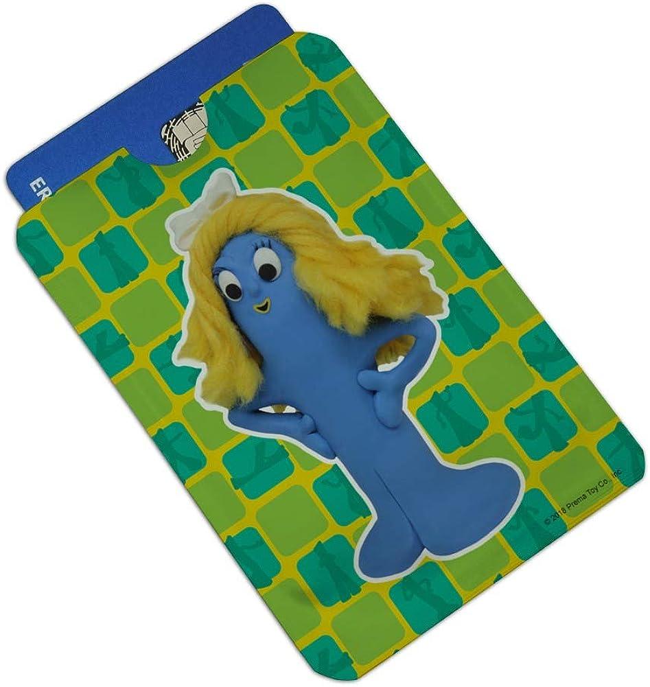 Goo Blue Mermaid Gumby Clay Art Credit Card RFID Blocker Holder Protector Wallet Purse Sleeves Set of 4