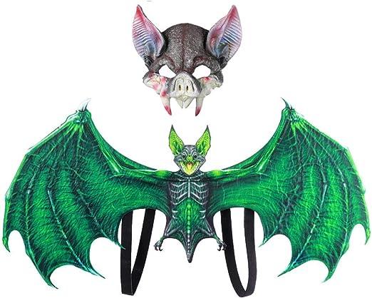 Forart Máscara y ala de dragón establece niños adultos fantasía ...