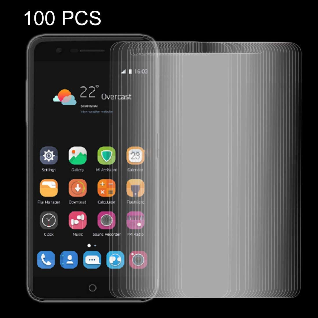 V8 Mini 0.26mm 9H Surface Hardness Explosion-Proof Non-Full Screen Tempered Glass Screen Film Tempered Glass Film XHC Screen Protector Film 100 PCS for ZTE Blade V8 Lite