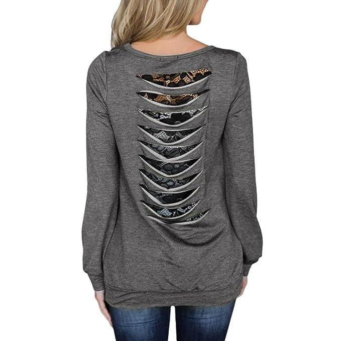 ❤ Camiseta de botón Suelto,Blusa de Ajuste de Manga Corta para Mujer Camiseta de Cuello Redondo de Color sólido Absolute: Amazon.es: Ropa y accesorios