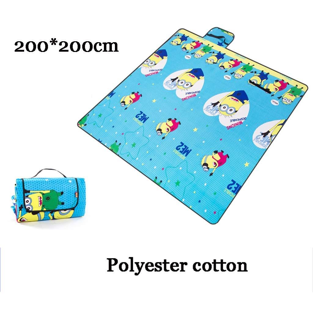 Picknickmatte- Extra Große Picknickdecke Teppich Wasserdicht 200 X X X 200 cm Für Festival Strand Reisen Camping Outdoor, Grün Blau Streifen (Farbe   T) B07PG1RR2P   Vorzugspreis  5f5203