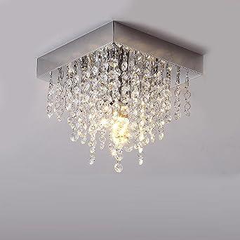 Schon LED Kristall Deckenleuchte E14 Moderne Eckig Design Leuchte Anhänger Kristall  Kronleuchter Innen Decke Beleuchtung Kristalllampe