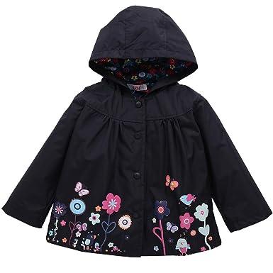 ca651ab01 Zerototens Girls Jacket,0-5 Years Old Kids Baby Raincoat Coat Hoodie  Children Waterproof Cartoon Flower Princess Sweet Trench Jacket Outerwear  Autumn ...