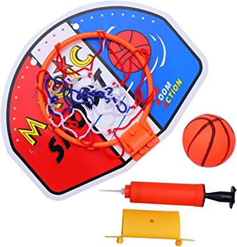 TOYANDONA Mini Canasta de Baloncesto con Pelota y Bomba para niños ...
