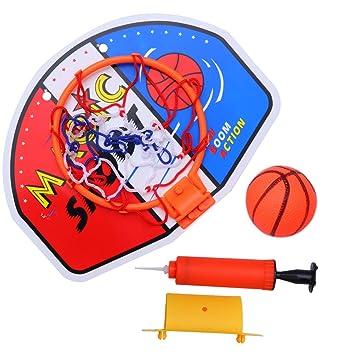 TOYANDONA - Mini aro de Baloncesto con Bola y Bomba para niños ...