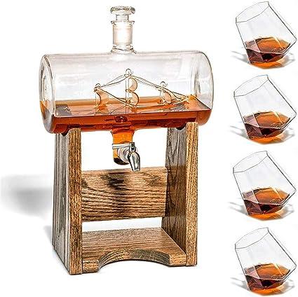 Mr. Fragile Decantador Whisky escocés,Crystal Whiskey Jarra ...
