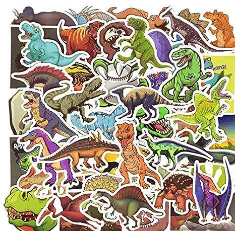 50 PCS Dinosaur Sticker Cartoon Jurassic Animal Educational ...