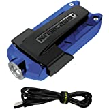 Nitecore TIP 2017 Upgrade 360 Lumen USB Rechargeable Keychain Flashlight & LumenTac USB Charging Cable (Blue, More color in Options)
