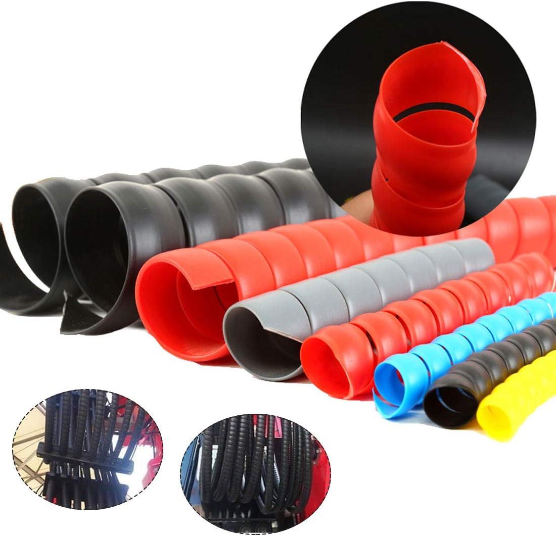 Enveloppe de c/âble color/ée Manchons de c/âble Tuyau denroulement Enrouleur de c/âble en spirale 1m x 10mm//14mm