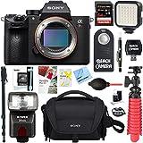 Sony a7R III 42.4MP Full-frame Mirrorless Interchangeable Lens Camera Body + 64GB Memory & Flash a7RIII Accessory Bundle (64GB Memory & Flash Kit)