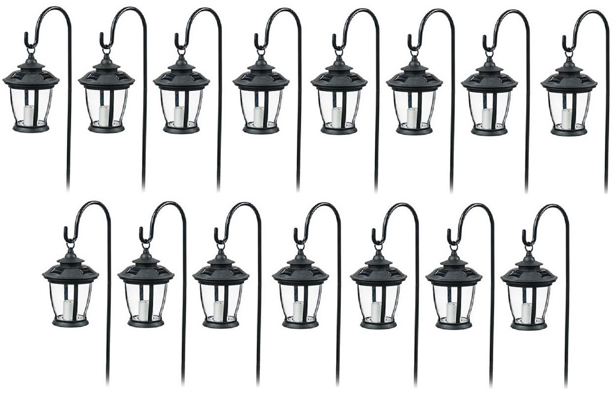 Four Seasons TV29960BK Black, Solar Candle Pathway Lantern Lights - Quantity 15 by Four Seasons Courtyard