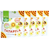 Tatapela Fruit Snacks, 5 Pack, Real Natural Plum Walnut Chewy Bites, No Sugar Added, Healthy Vegan Friendly Chews, Naturally Sweet Flavor, 3.1 oz. Pouches