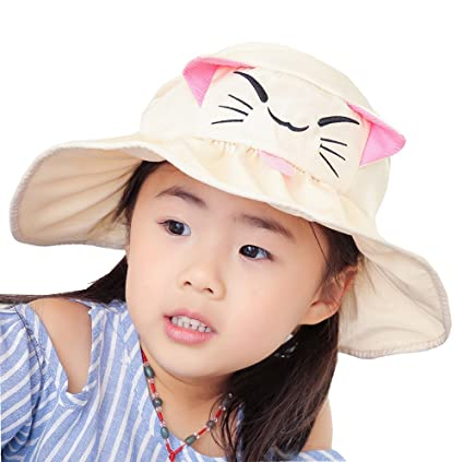 Mo-Magic Kid Baby Summer Hat Baby Sun Hat Wide Brim Sun Protection Hat Open 333b77e70c7