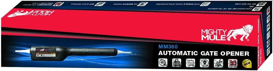 Mighty Mule MM360 Medium Duty Gate Operator Black