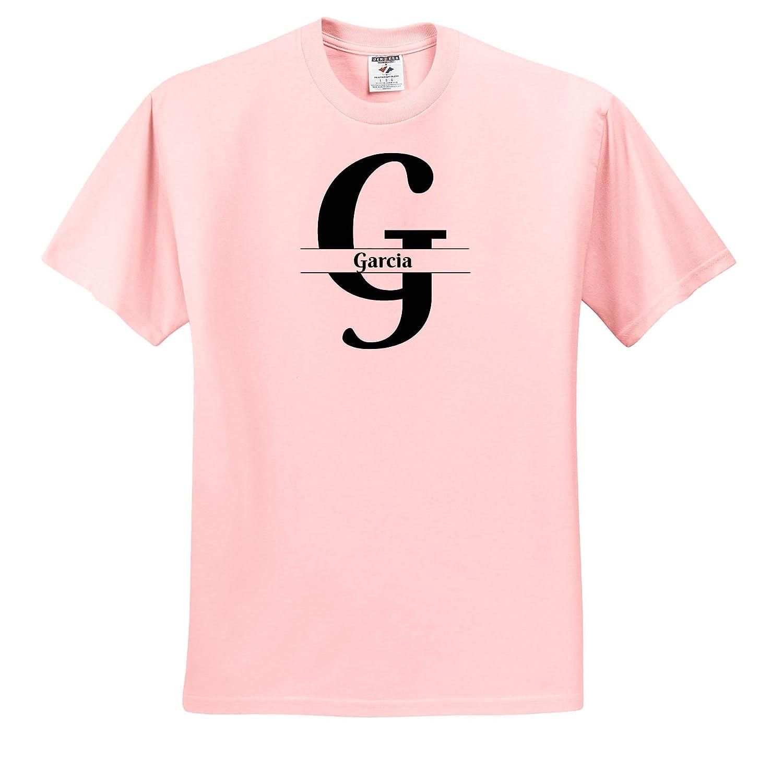 Bold Script Monogram G Garcia T-Shirts 3dRose BrooklynMeme Monograms
