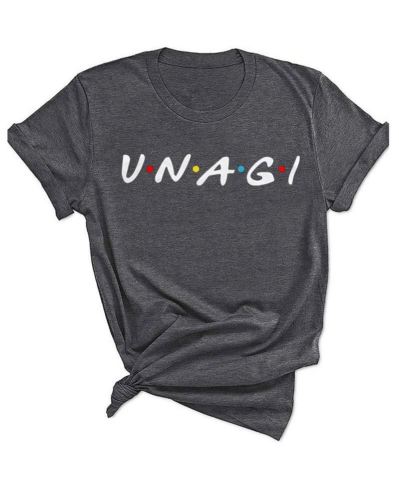 Qrupoad Unagi Friends Tshirt Teen Girls Cute Shirts Funny Tv Show Graphic Tees Tops