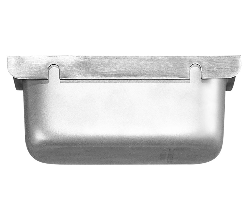 Removable Keyhole Mount Grease Cup for Restaurant Hoods - 4'' x 6 5/8'' x 4''