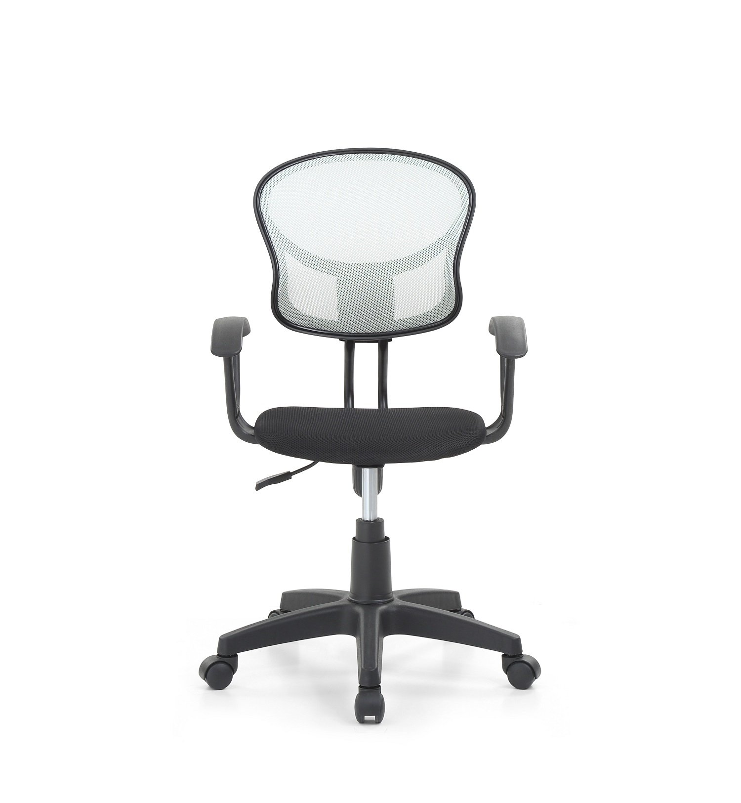 Hodedah Mesh Office Chair with Arms, Adjustable Height, and Swivel Functionality, Grey by HODEDAH IMPORT (Image #2)