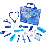 Doctor Set Medical Carrycase Doctor Kit Playset For Kids Role Play Pretend Toys For 3 4 5 Year old Girl Boy(Blue)