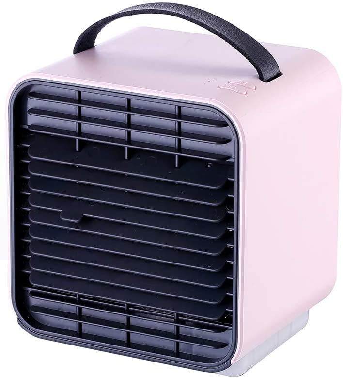 Air Cooler with Fan, Evaporative Air Humidifier, Portable Mini Air Conditioner with LED Night Light for Home Room Office with 3 Speeds Setting