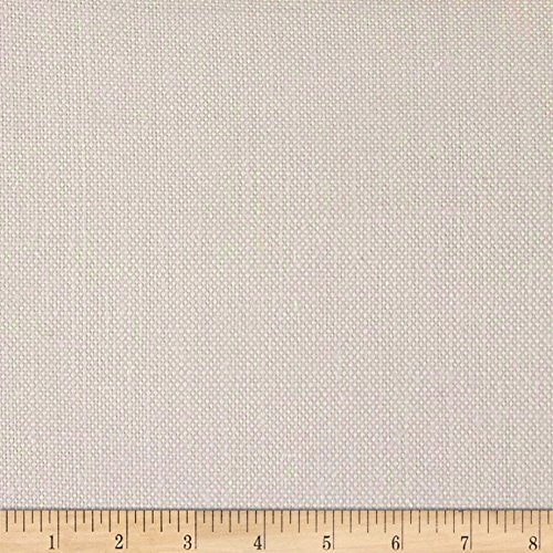 Quality Linen 100% European Linen Basketweave Upholstery Fabric, White ()