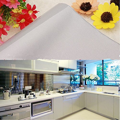 Amazon.com   Yazi Gloss PVC Self Adhesive Kitchen Unit Cupboard Door Cover  Shelf Liner Paper, 24x196 Inch, Gray