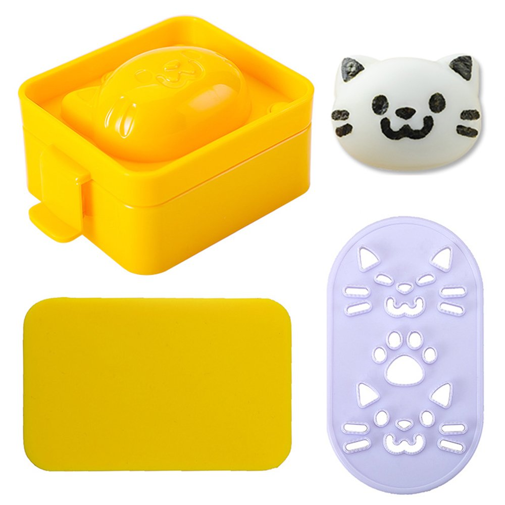 Egg Mold Set - WeHome Cartoon Cute Cat Shaped Boiled Egg Sushi Rice Decorating Mold Mould,Best Kitchen DIY Tool for Customized Kids Food Making