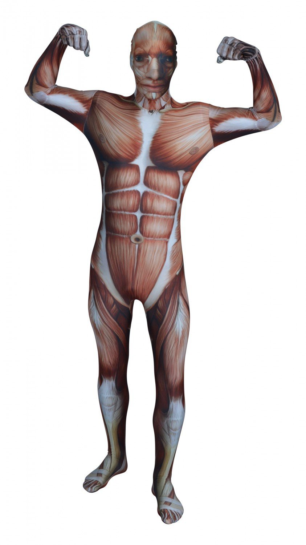 Funsuits Original FUNSUIT - Disfraz de Segunda Piel (Pegado al Cuerpo) Músculos Carnaval Halloween - Talla S / M / L / XL / XXL [S] - Varios diseños