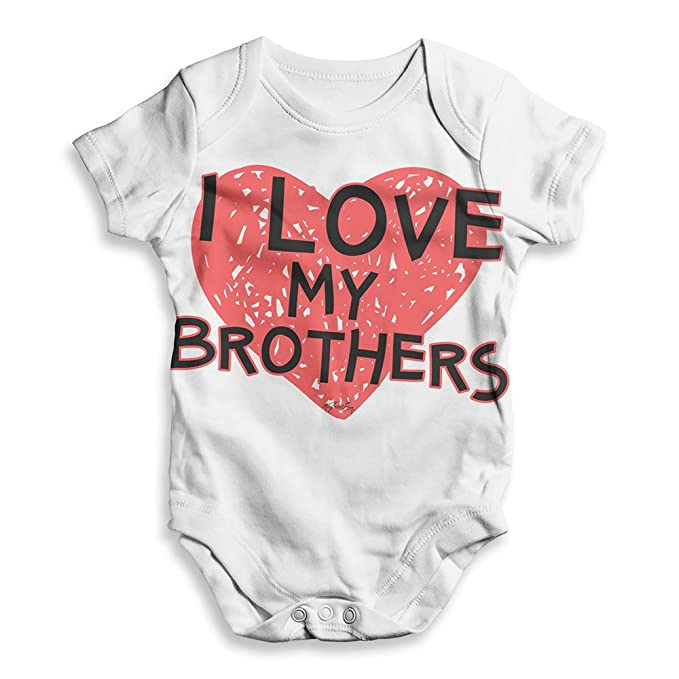 4ae66164d Amazon.com: TWISTED ENVY Baby Girl Clothes I Love My Brothers: Clothing
