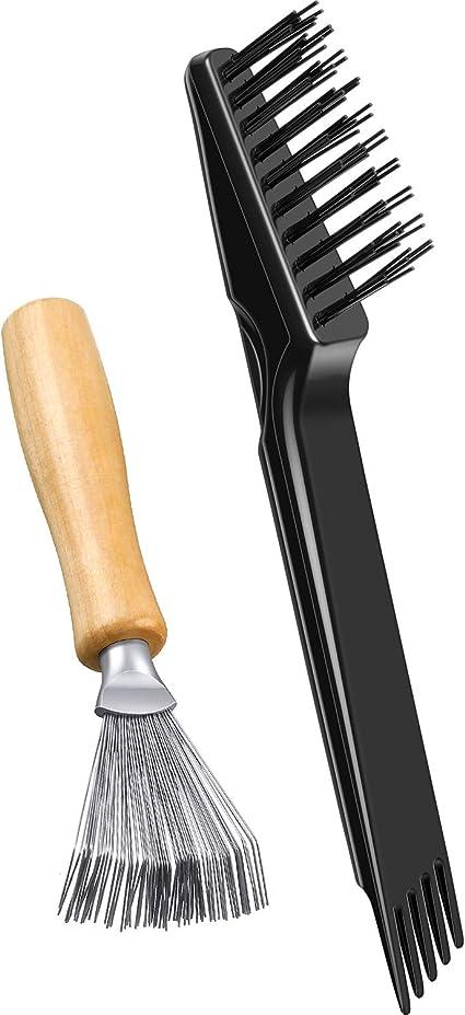 2 Herramientas de Limpieza de Cepillo de Pelo Cepillo de Limpieza Peine Mini Removedor de Cepillo de Pelo para Eliminar Polvo Cabello Uso en Casa y ...