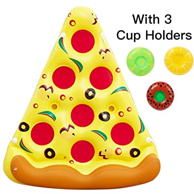 Acekid Inflatable Pizza Pool Float,6 x 5 Feet Giant Swimming Pool Rafts,Outdoor Swimming Party Floatie Lounge Toy for Kids and Adults: Toys & Games