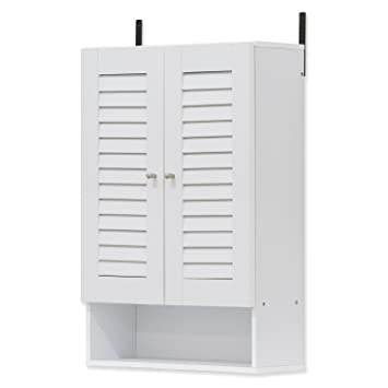 Furinno Indo Double Door Wall Cabinet 19 7 Inch White