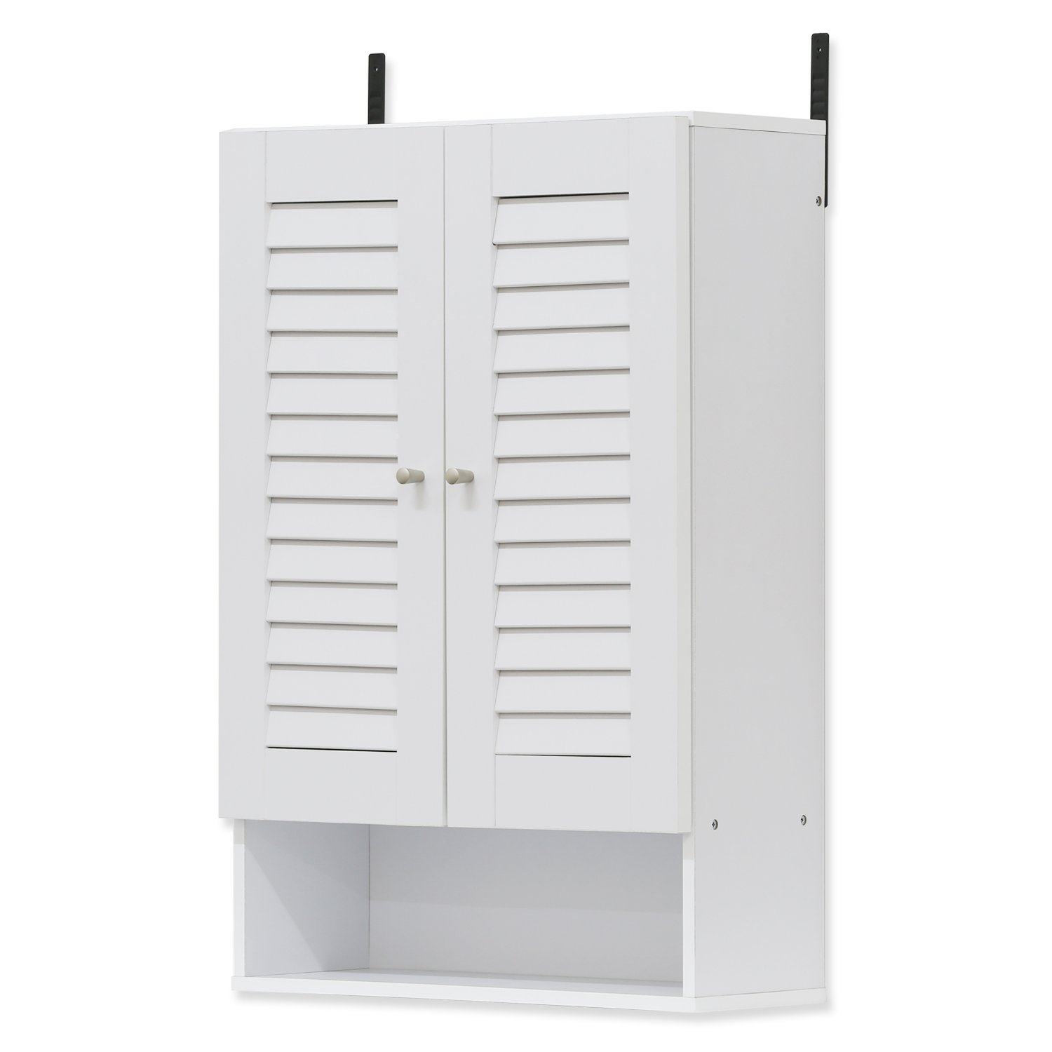 Furinno 16063WH Indo Double Door Wall Cabinet, 19.7 Inch, White