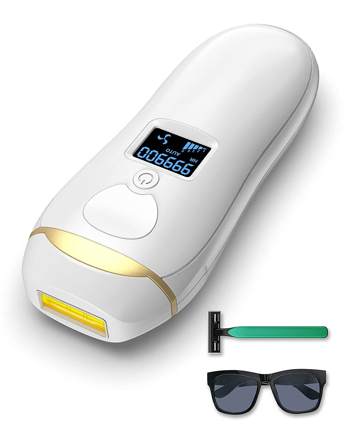 At Home Laser Hair Removal for Women Men, BAIVON Painless Permanent IPL Hair Remover System for Whole Body, Upgrade 999,900 Flashes