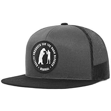 3acd6776ce51e Image Unavailable. Image not available for. Color  Mammal Blk Char Mesh  Trucker Cap - Embroidered Patch ...