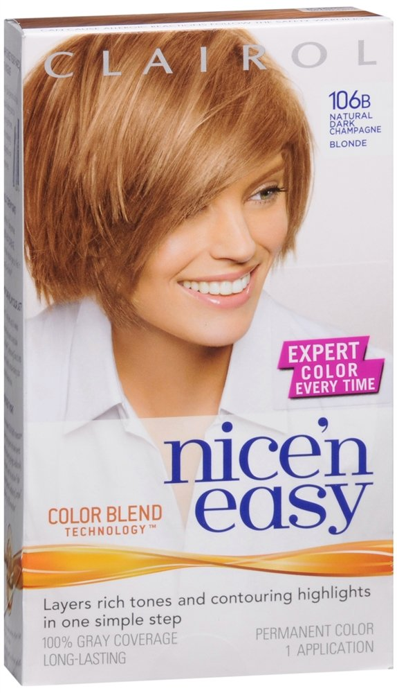 Clairol Nice 'n Easy Hair Color, Natural Dark Champagne Blonde (106B) by Clairol